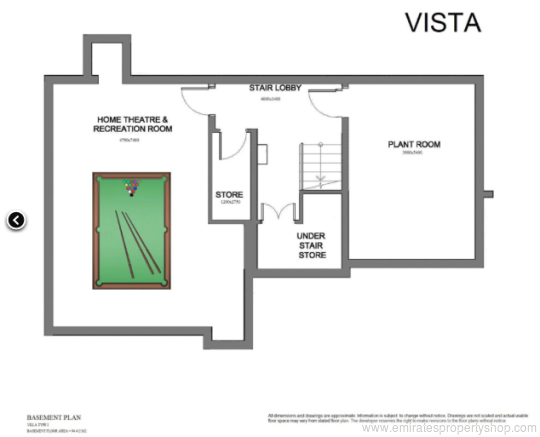 Villas for sale jumeirah golf estates dubai for Floor plans jumeirah golf estates